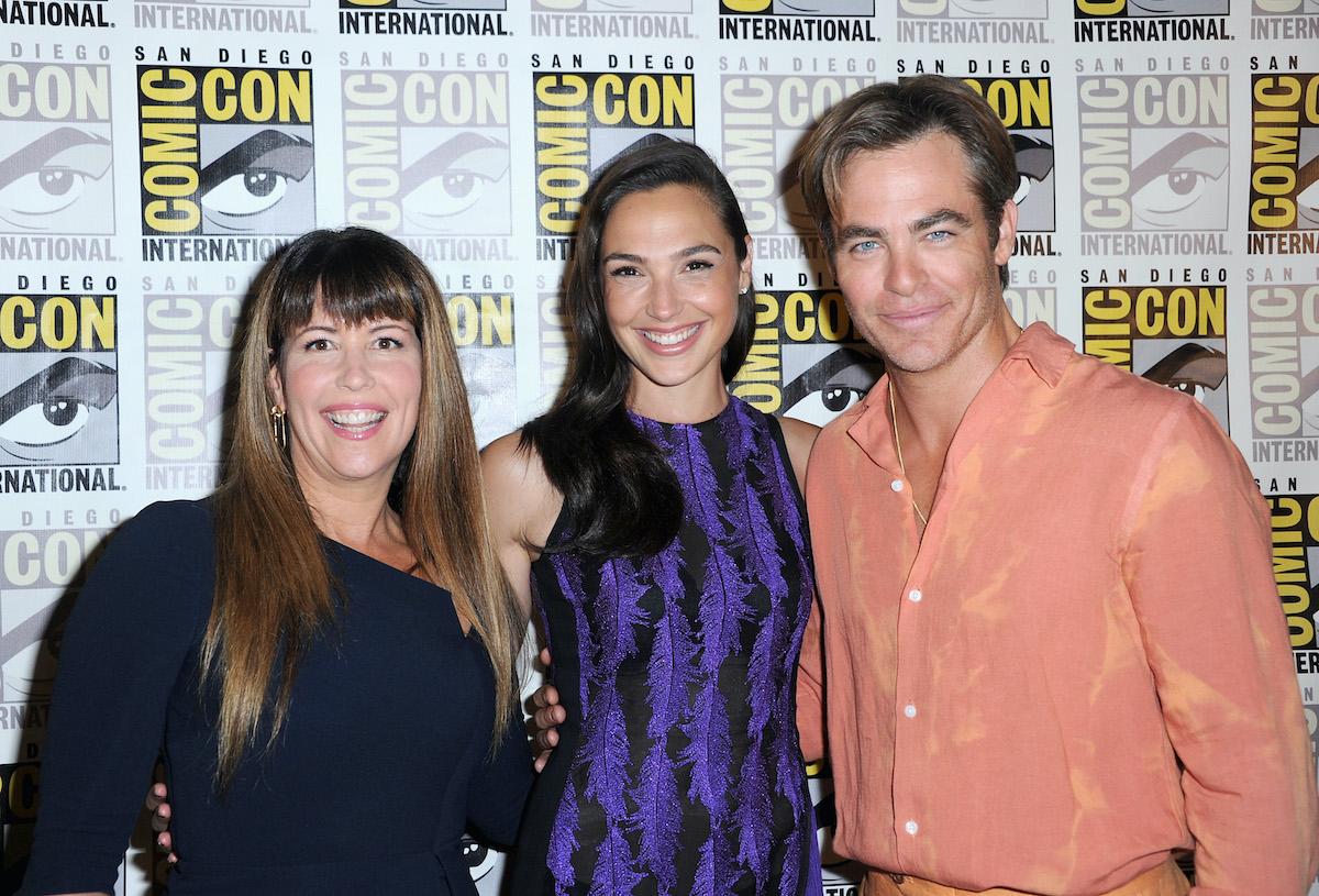 Patty Jenkins, Gal Gadot, and Chris Pine at San Diego Comic-Con