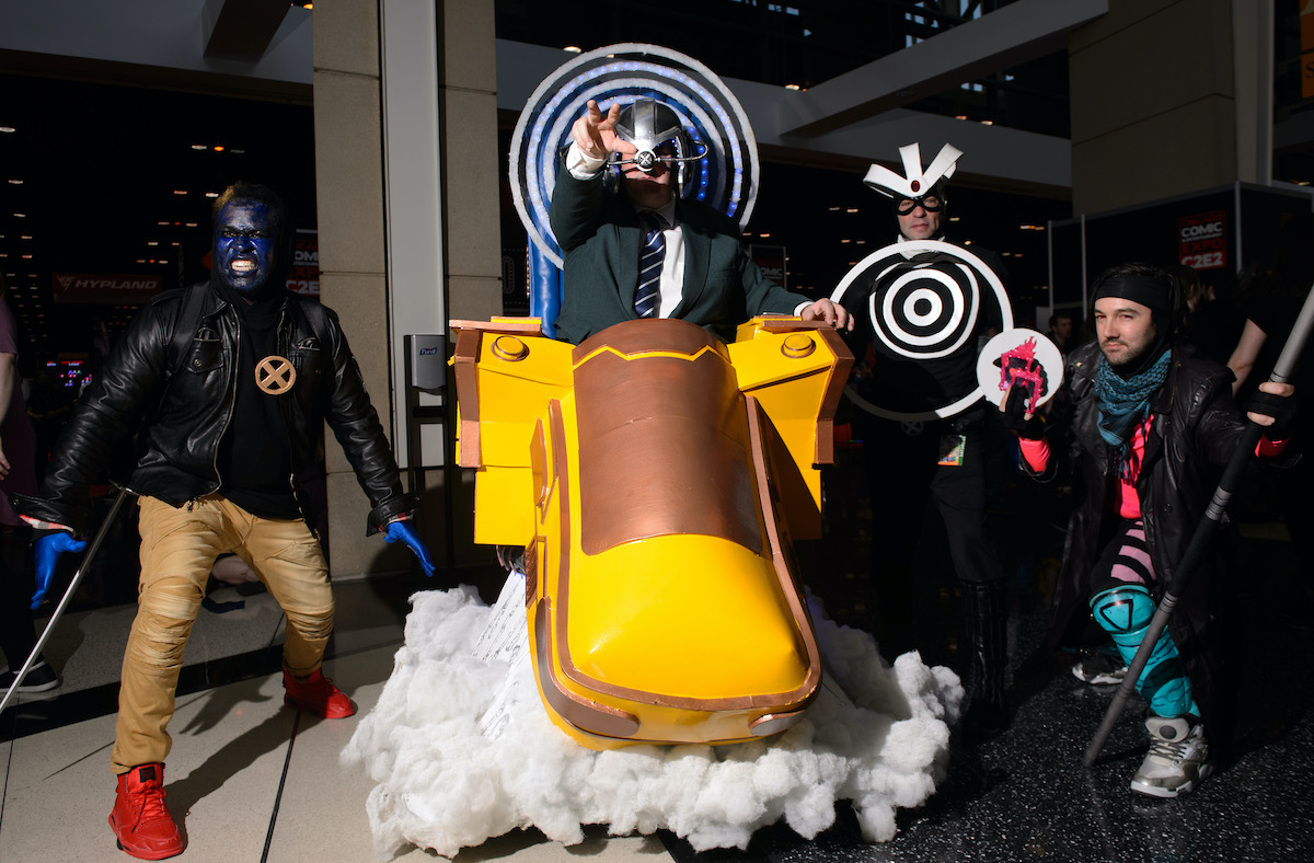 Cosplayers dressed as X-Men characters