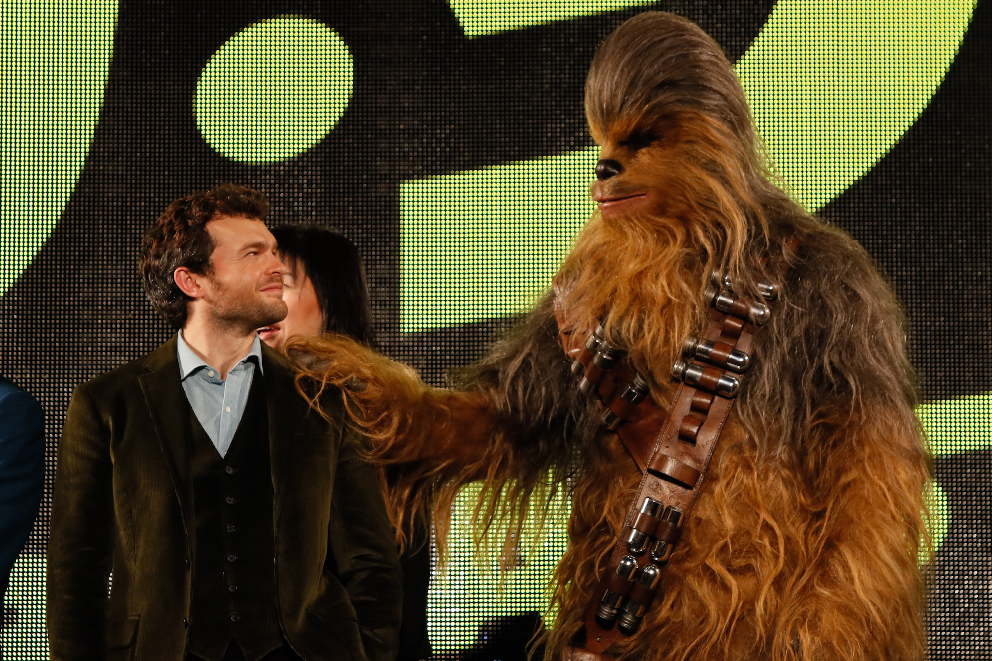 Alden Ehrenreich at the premiere for 'Solo: A Star Wars Story' on June 12, 2018 in Tokyo, Japan.