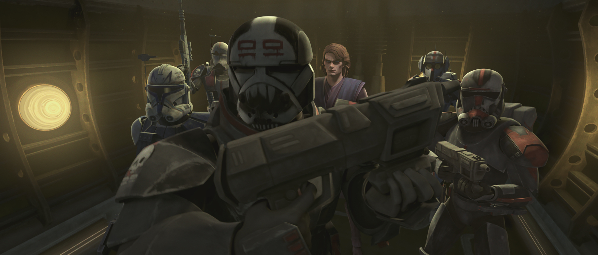 The Bad Batch go in to save Echo with Anakin Skywalker and Captain Rex in Season 7, 'The Clone Wars'