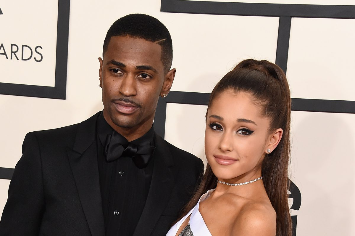 Big Sean (L) and Ariana Grande attend The 57th Annual GRAMMY Awards on February 8, 2015, in Los Angeles, California.