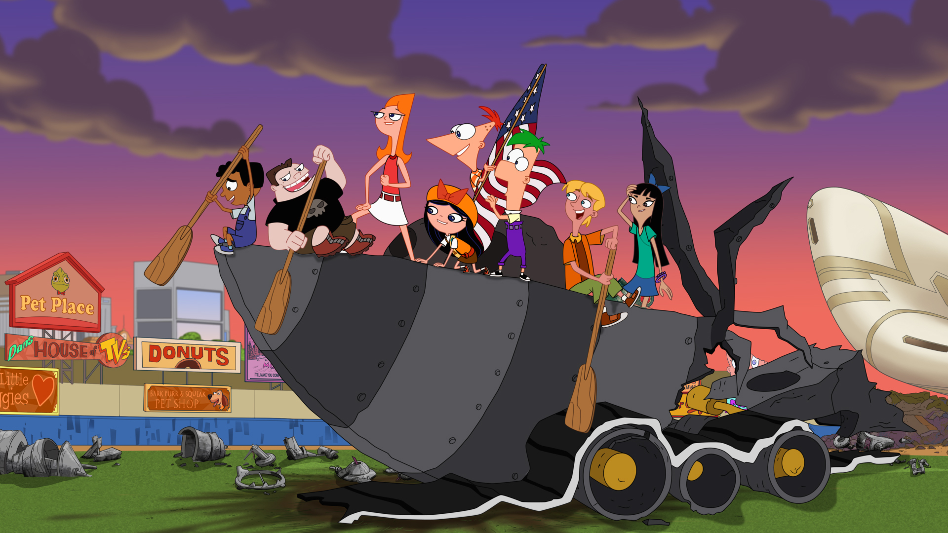 Candace and the Danville gang in 'Phineas and Ferb The Movie: Candace Against the Universe.'