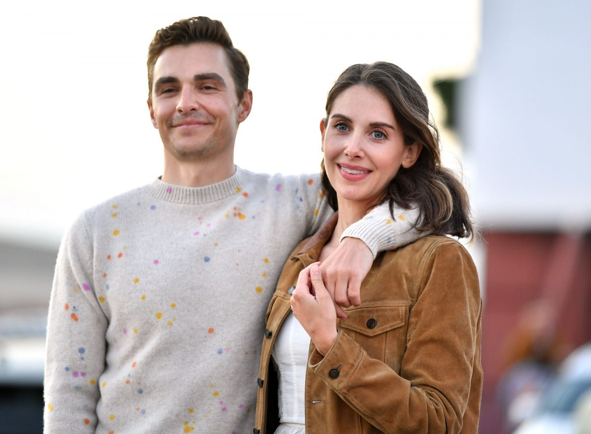 (L-R) Dave Franco and Alison Brie attend the Los Angeles advanced screening of IFC's 'The Rental' at Vineland Drive-In on June 18, 2020 in City of Industry, California.
