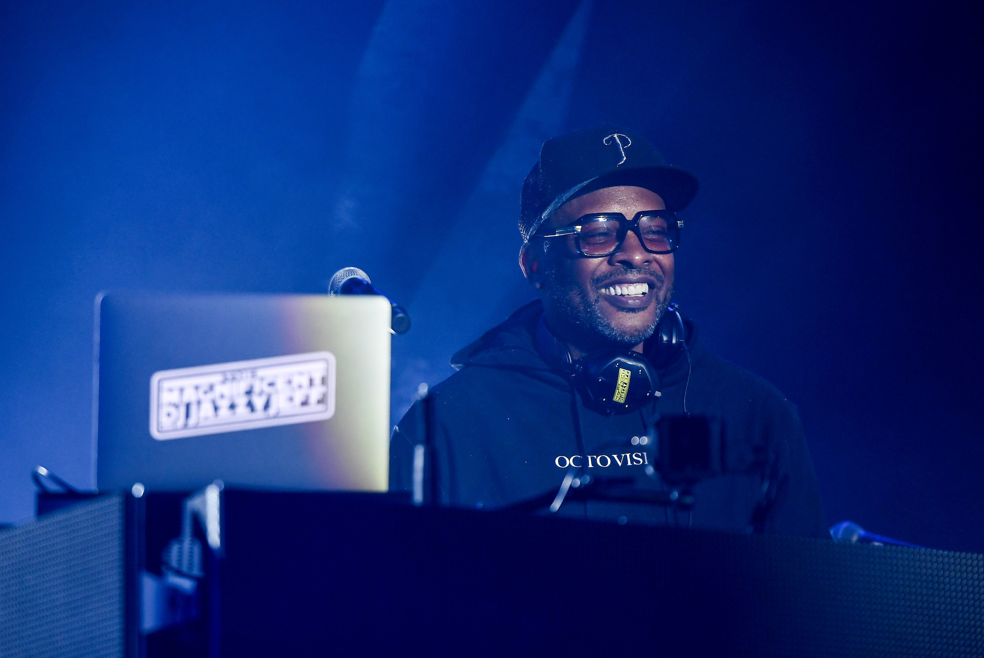 """DJ Jazzy Jeff performs on stage with Will Smith (not pictured) during the Paramount Pictures, Skydance, and Jerry Bruckheimer Films """"Gemini Man"""" Budapest concert, 2019."""