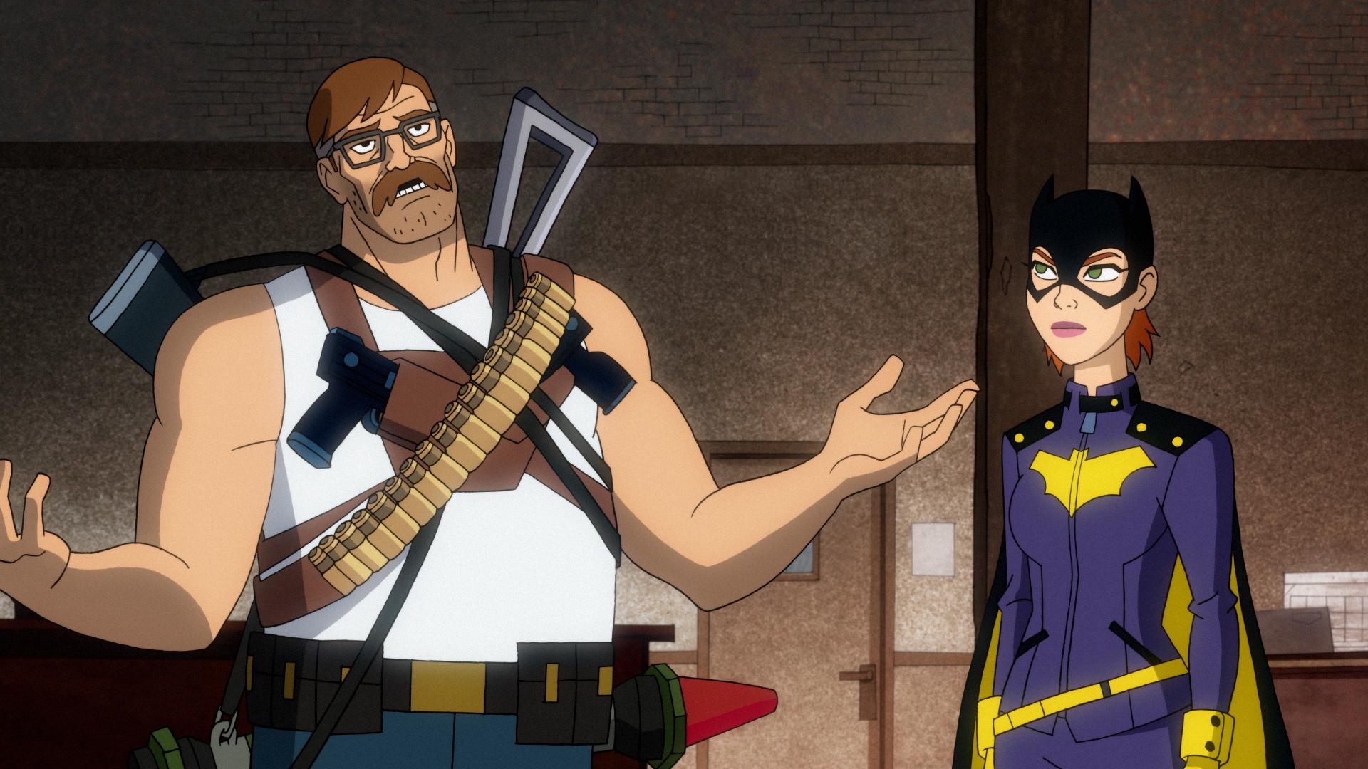 Commissioner Jim Gordon and Batgirl (Barbara Gordon) in Season 2 of 'Harley Quinn'