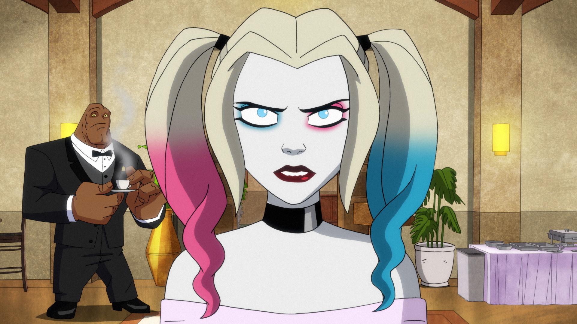 Harley Quinn at Poison Ivy's wedding, Season 2 of 'Harley Quinn.'