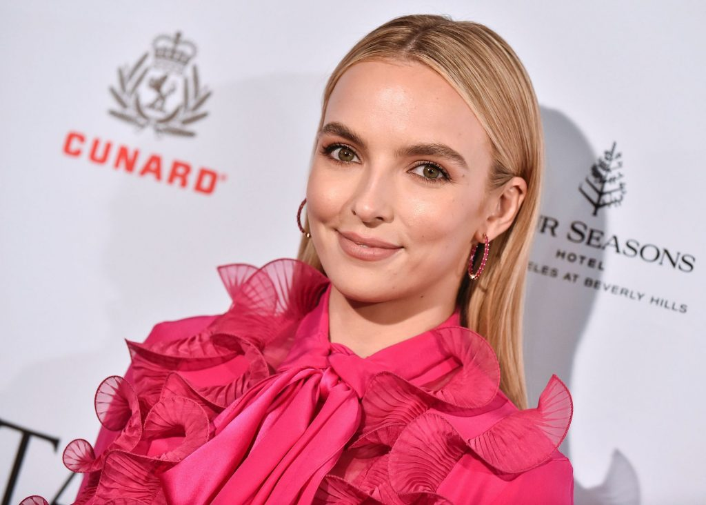 Jodie Comer at the BAFTA Tea Party at Four Seasons Hotel on January 4, 2020.