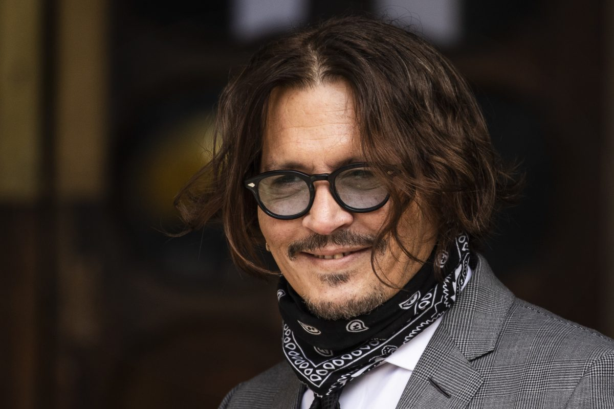 Actor Johnny Depp arrives at the Royal Courts of Justice, Strand on July 13, 2020 in London, England. American actor Johnny Depp is taking News Group Newspapers, publishers of The Sun, to court over allegations that he was violent towards his ex-wife, Amber Heard, 34.