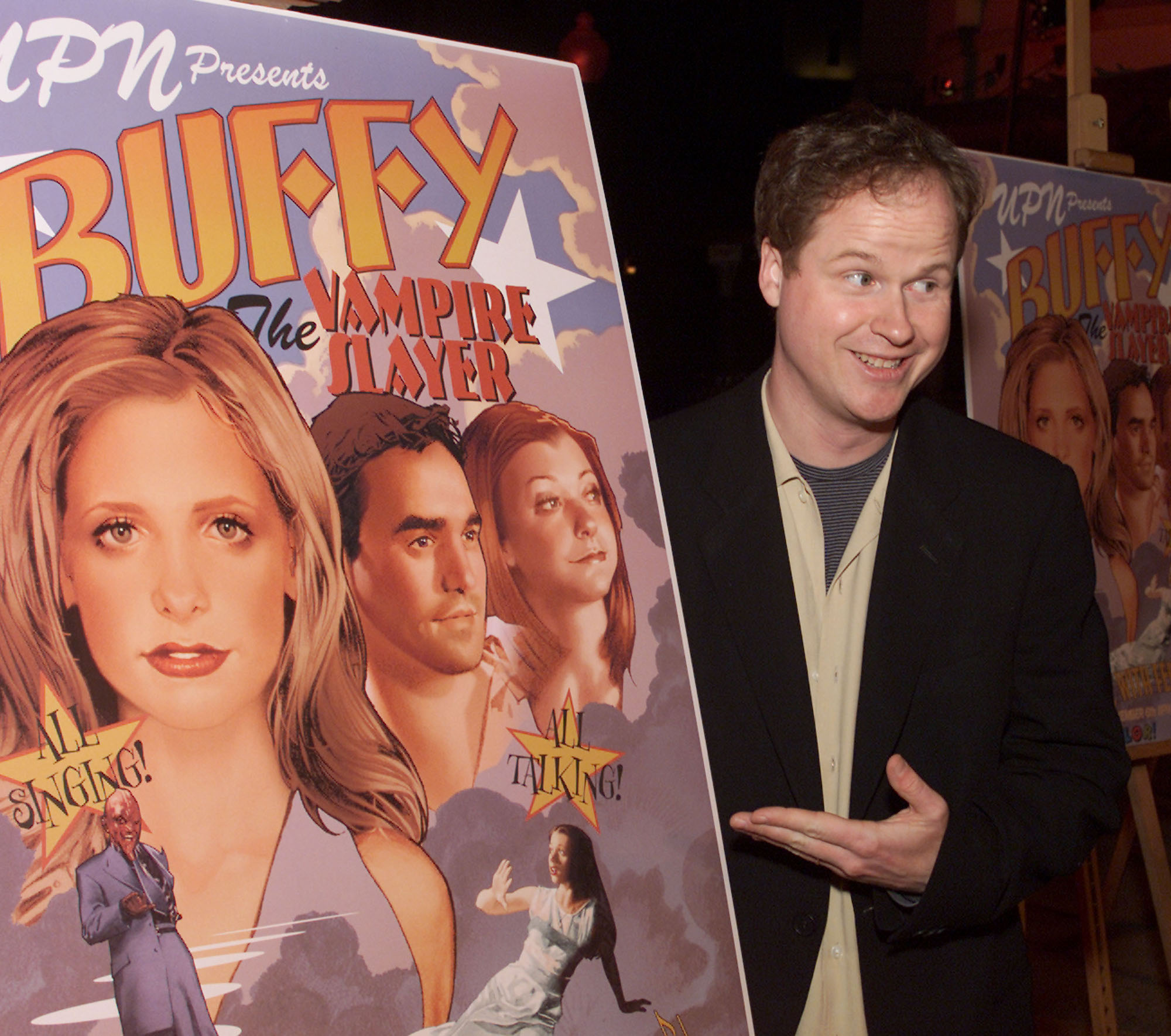 "Joss Whedon at a screening of ""Once More With Feeling"", the musical episode of 'Buffy, The Vampire Slayer' on November 2, 2001"