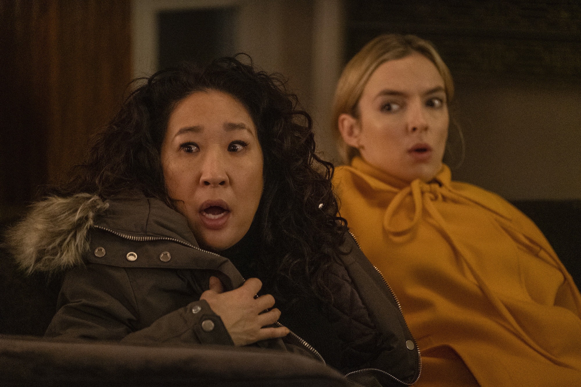 Sandra Oh as Eve Polastri Jodie Comer as Villanelle in the Season 3 finale of 'Killing Eve'