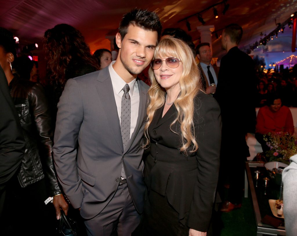 Taylor Lautner and Stevie Nicks at the premiere of 'The Twilight Saga: Breaking Dawn - Part 2' after-party on Nov. 12, 2012.