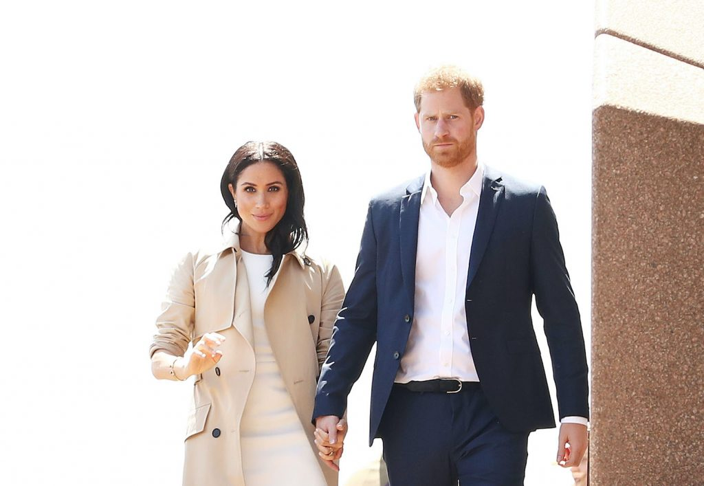 Prince Harry and Meghan Markle meet the public at Sydney Opera House on October 16, 2018 in Sydney, Australia