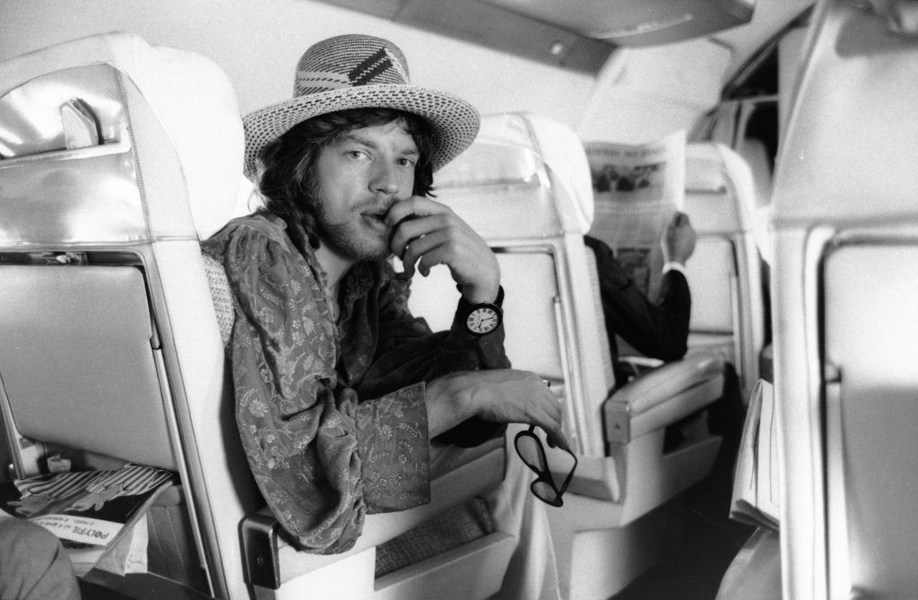 Mick Jagger in a hat