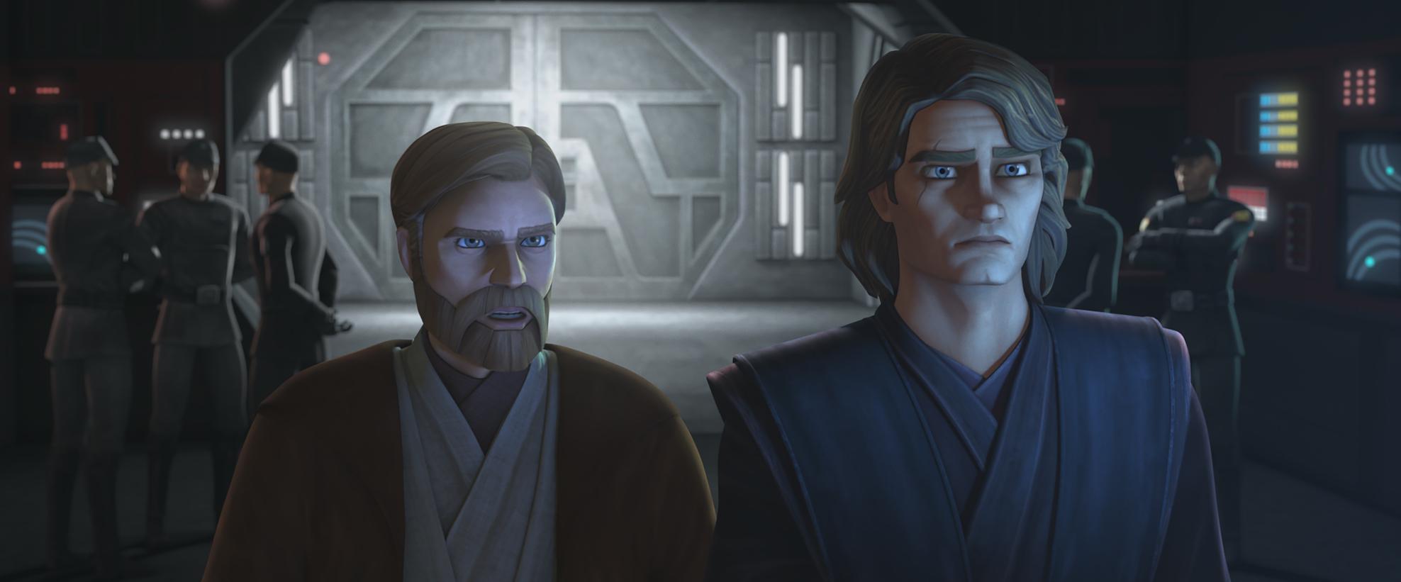 Obi-Wan Kenobi and Anakin Skywalker in 'The Clone Wars' Season 7.