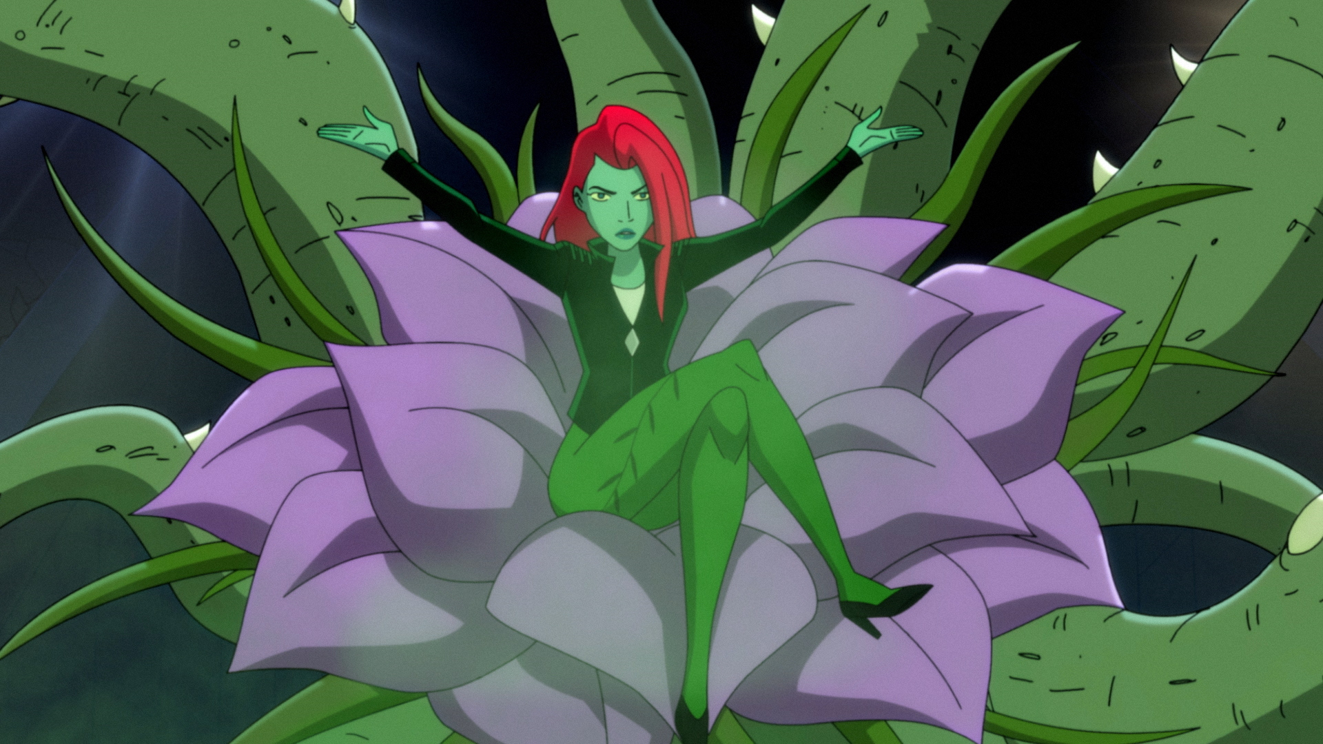 Poison Ivy in a flower, Season 1 of 'Harley Quinn'