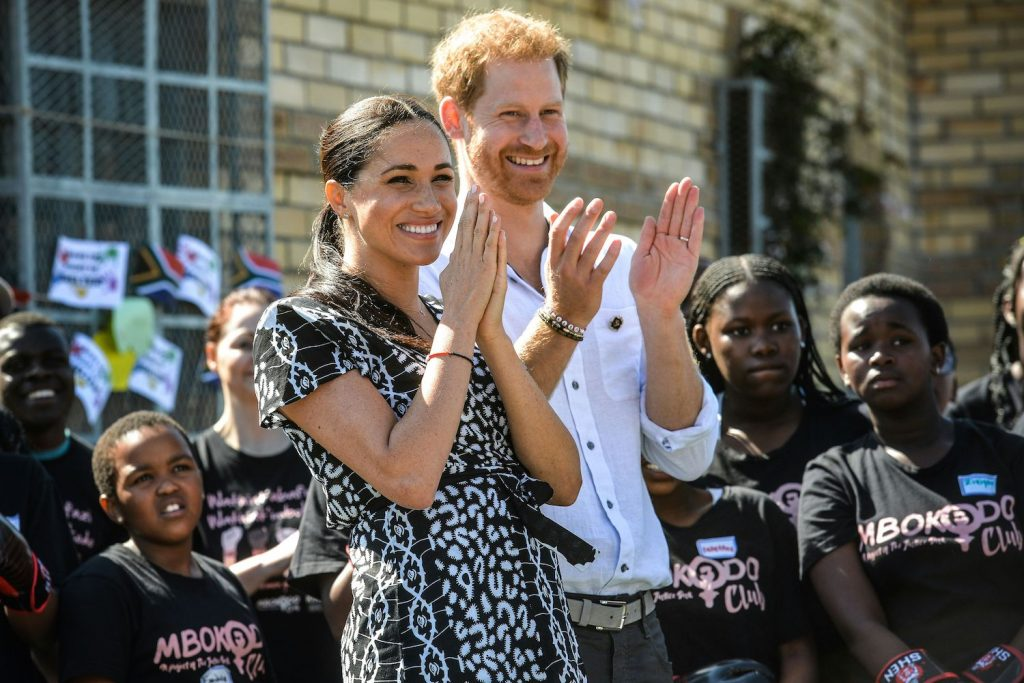 """Prince Harry and Meghan Markle visit the """"Justice desk"""", an NGO in the township of Nyanga in Cape Town"""