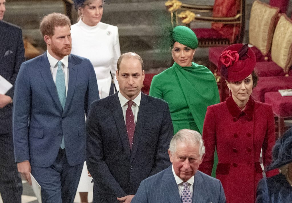 Prince Harry, Meghan Markle, Prince William, and Kate Middleton at Commonwealth Day Celebrations Westminster Abbey 2020