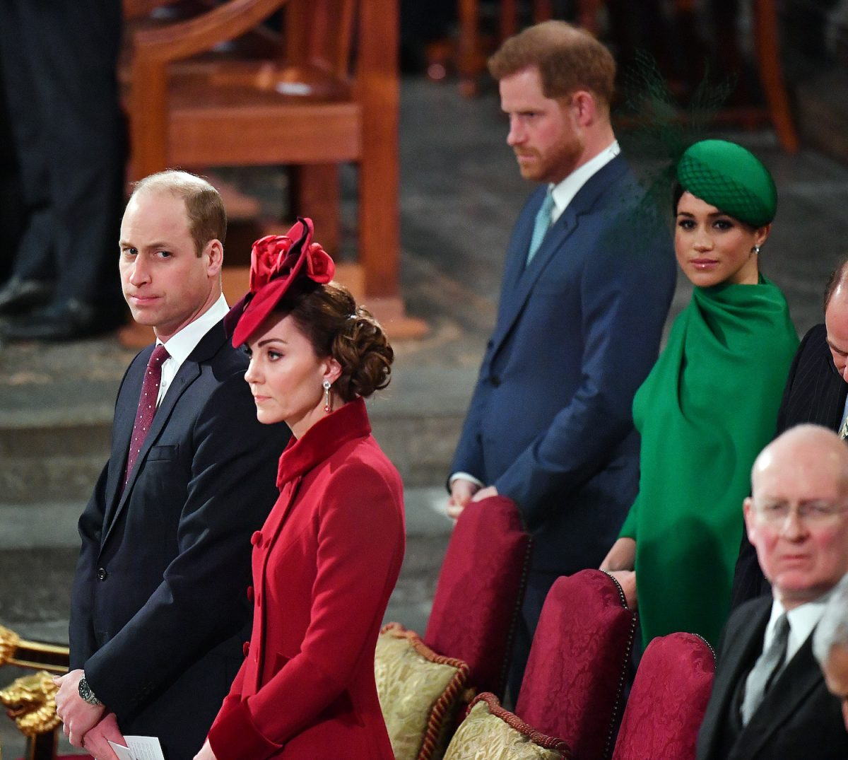 Prince William, Kate Middleton, Prince Harry, and Meghan Markle attend Commonwealth Day Celebrations at Westminster Abbey 2020