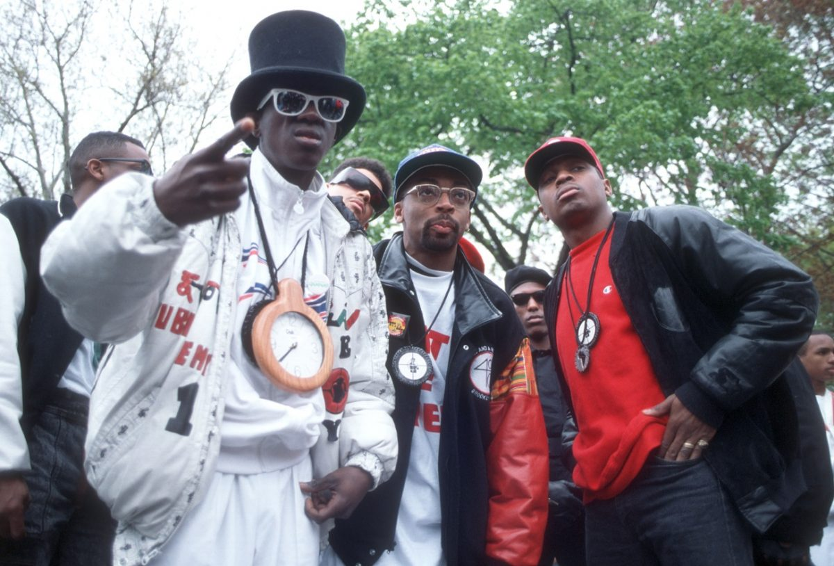 Spike and Public Enemy shooting the 'Fight the Power' video