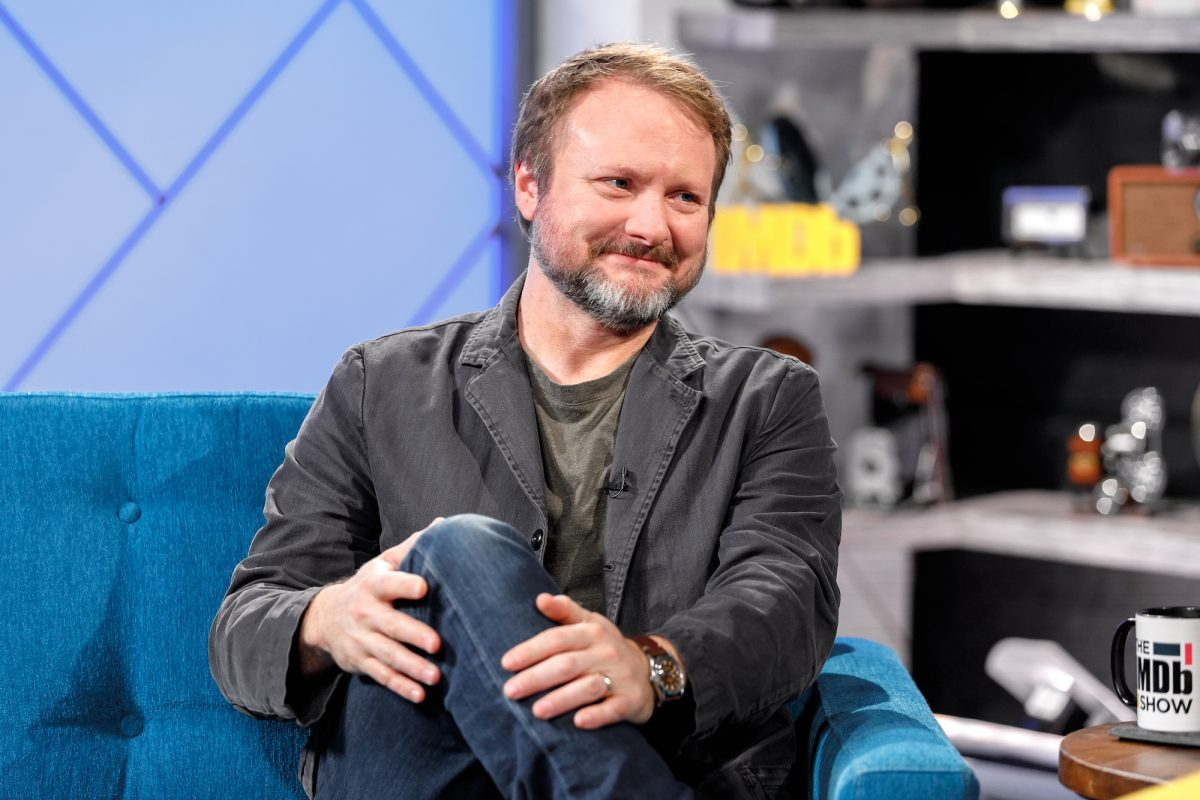 Rian Johnson being interviewed