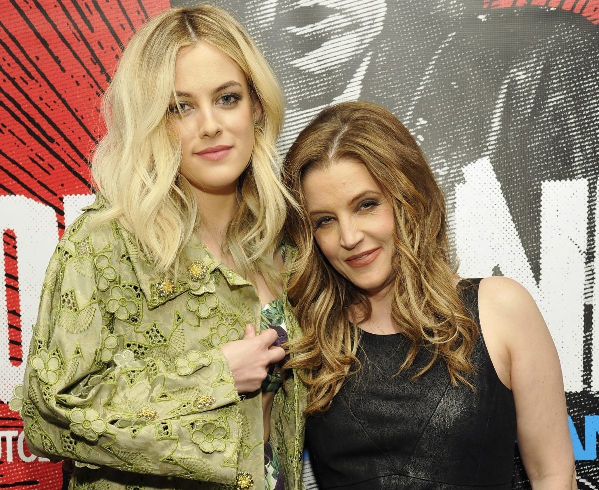 Riley Keough and Lisa Marie Presley on April 27, 2012 in West Hollywood, California.