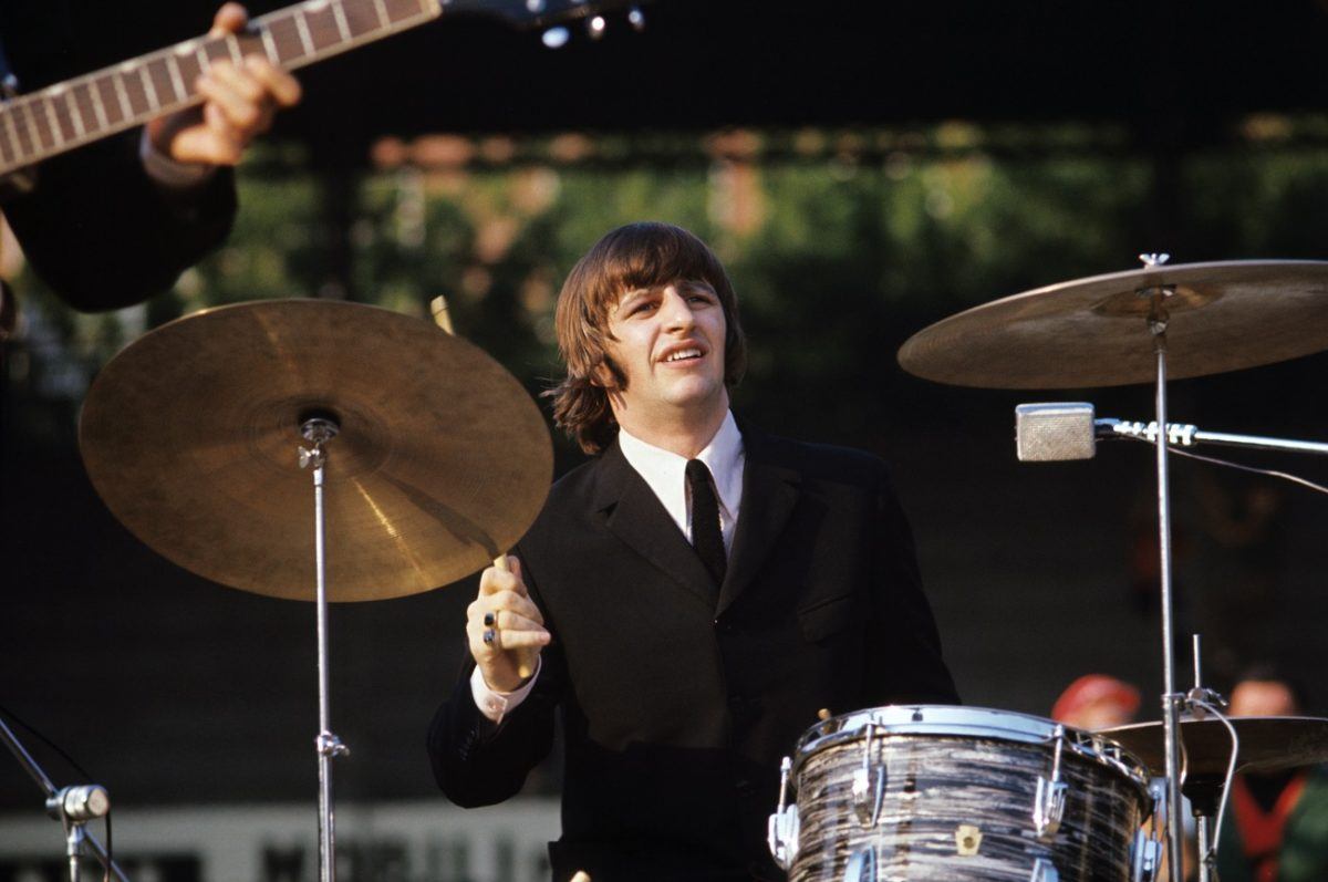 Ringo Starr at the drums in 1965