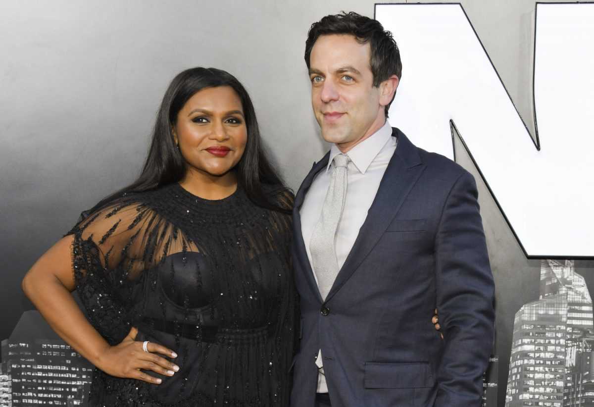 Mindy Kaling and BJ Novak at the premiere of 'Late Night'