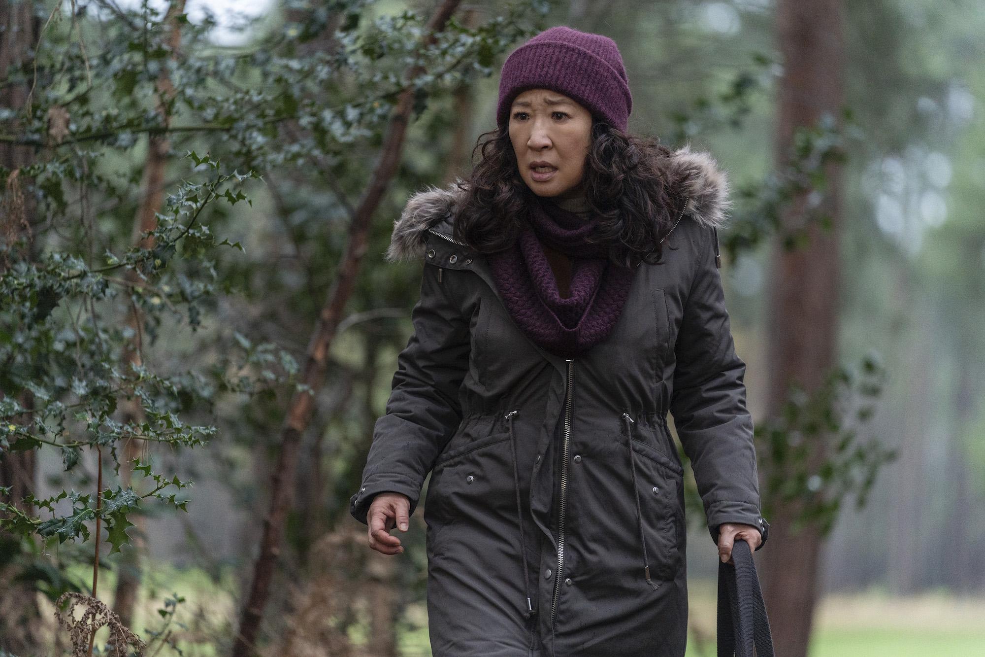 Sandra Oh as Eve Polastri comes across Dasha in Season 3 of 'Killing Eve'