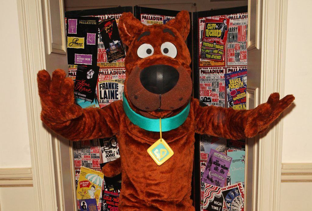 Someone in a Scooby-Doo costume