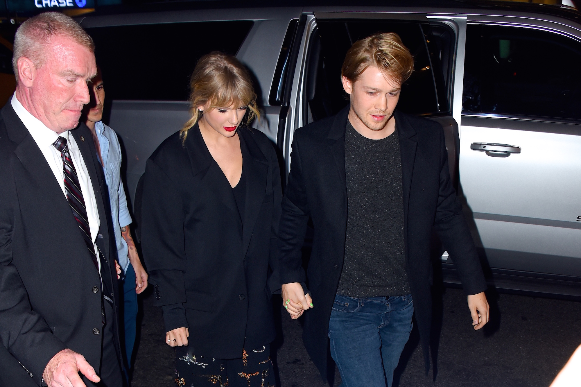 Taylor Swift and Joe Alwyn at Zuma restaurant on  October 6, 2019 in New York City.