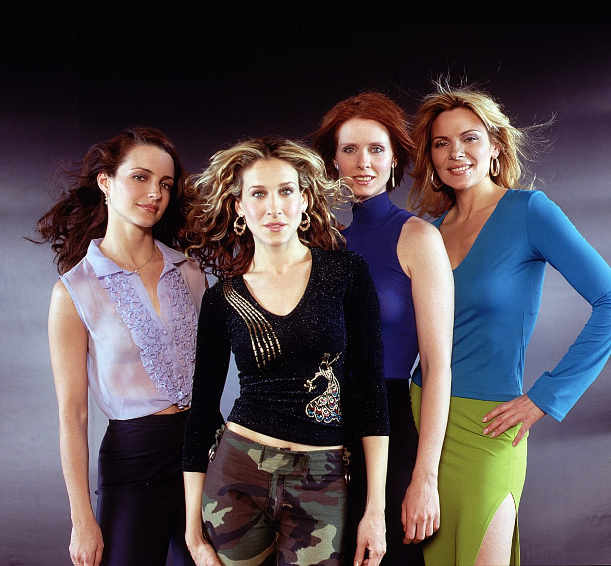 Kristin Davis, Sarah Jessica Parker, Cynthia Nixon and Kim Cattrall appear in promotional material for 'Sex and the City'