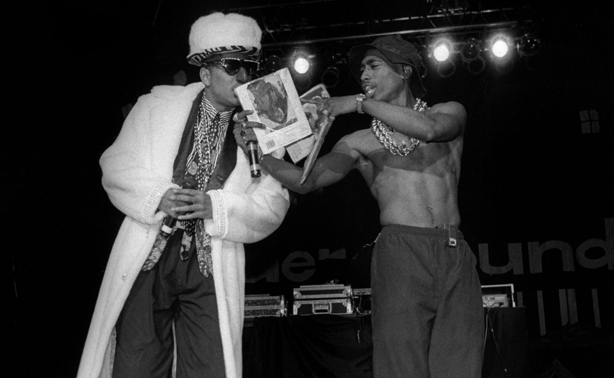 Humpty Hump and Tupac Shakur on stage