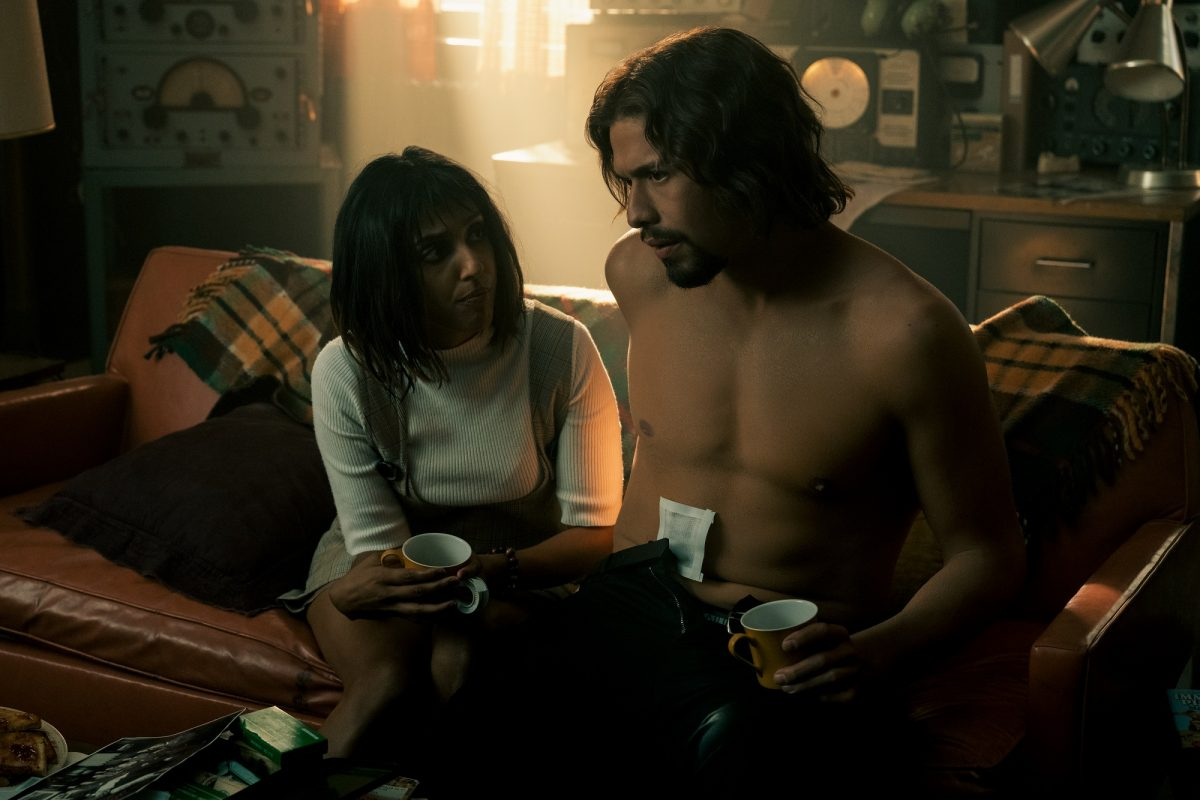 (L to R) Ritu Arya as Lila and David Castañeda as Diego Hargreeves in 'The Umbrella Academy'