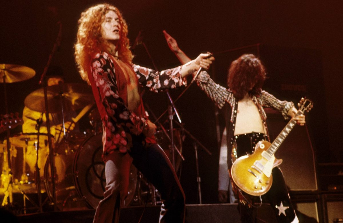 Robert Plant and Jimmy Page in 1975