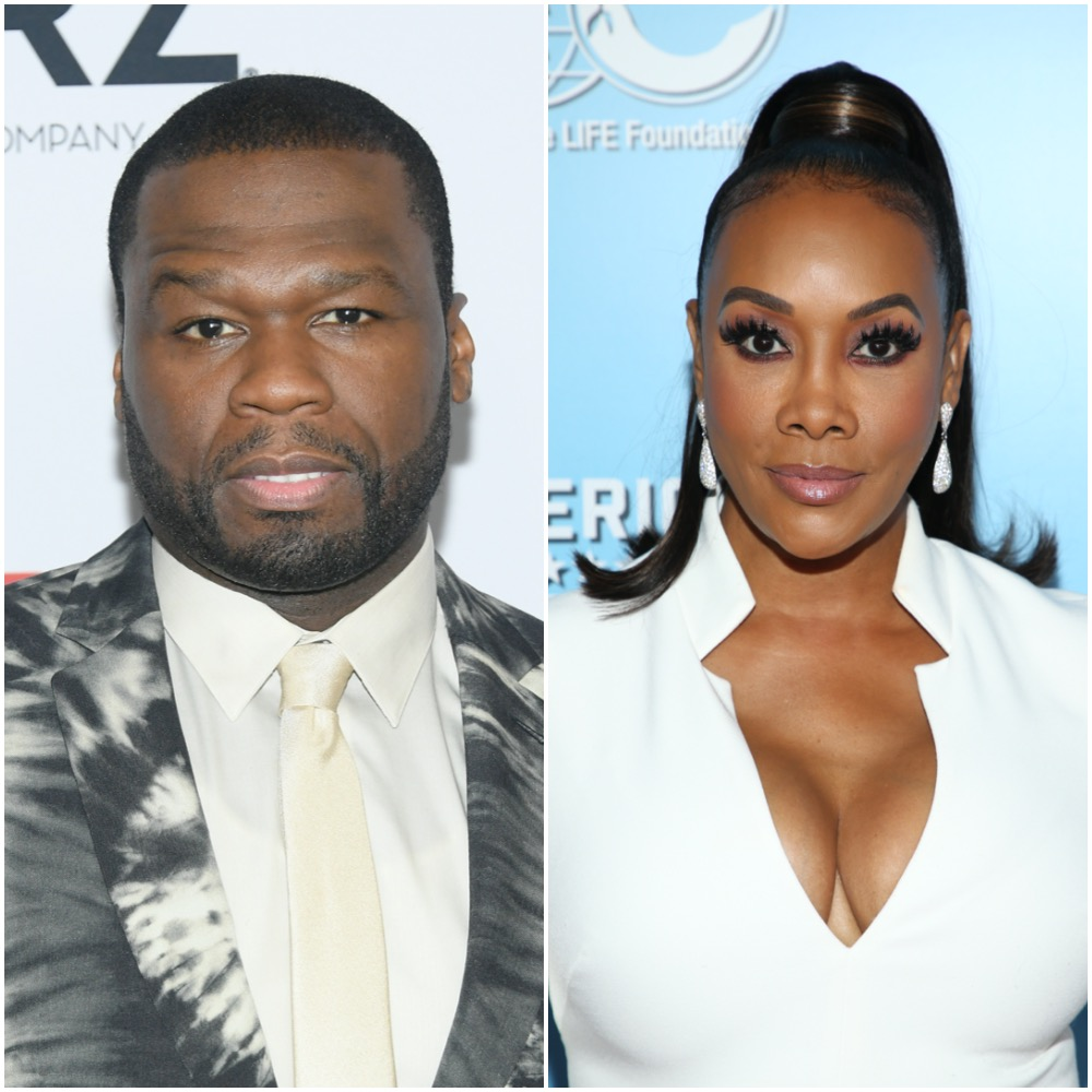 50 Cent and Vivica A. Fox in a photo collage50 Cent and Vivica A. Fox in a photo collage