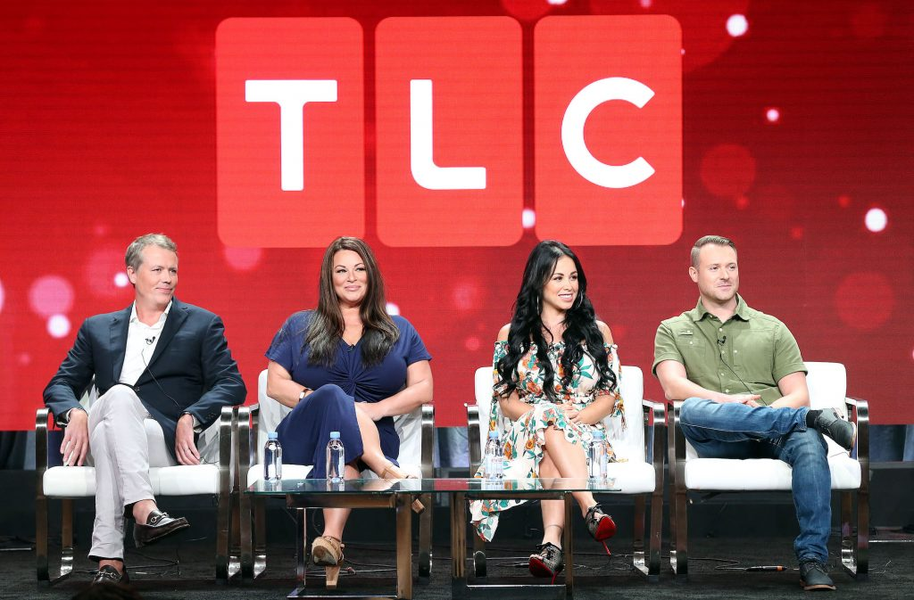 """(L-R) Matt Sharp, Molly Hopkins, Paola Mayfield, Russ Mayfield of the television show """"90 Day Fiance' Franchise"""" for the TLC Network"""
