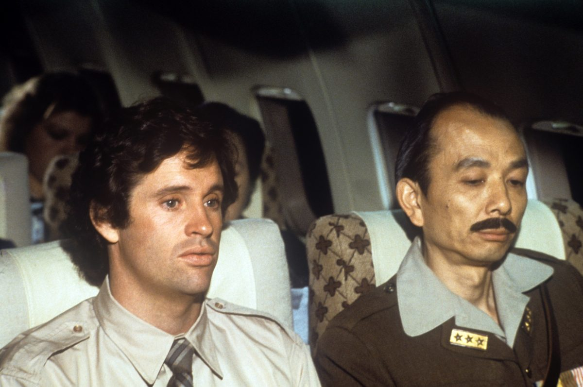 Airplane: Robert Hays and James Hong