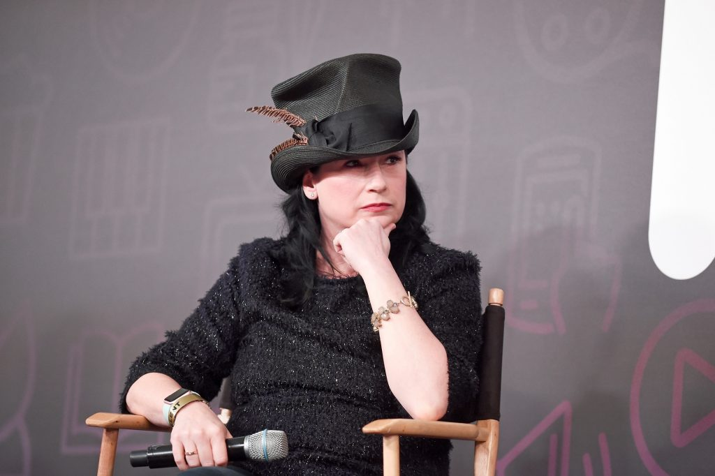 Amy Sherman-Palladino speaks at Entertainment Weekly's PopFest at The Reef