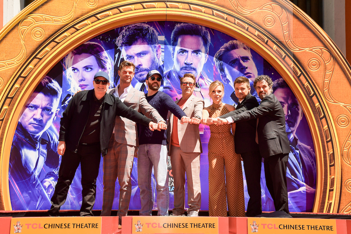 Kevin Feige and the cast of 'Avengers: Endgame'