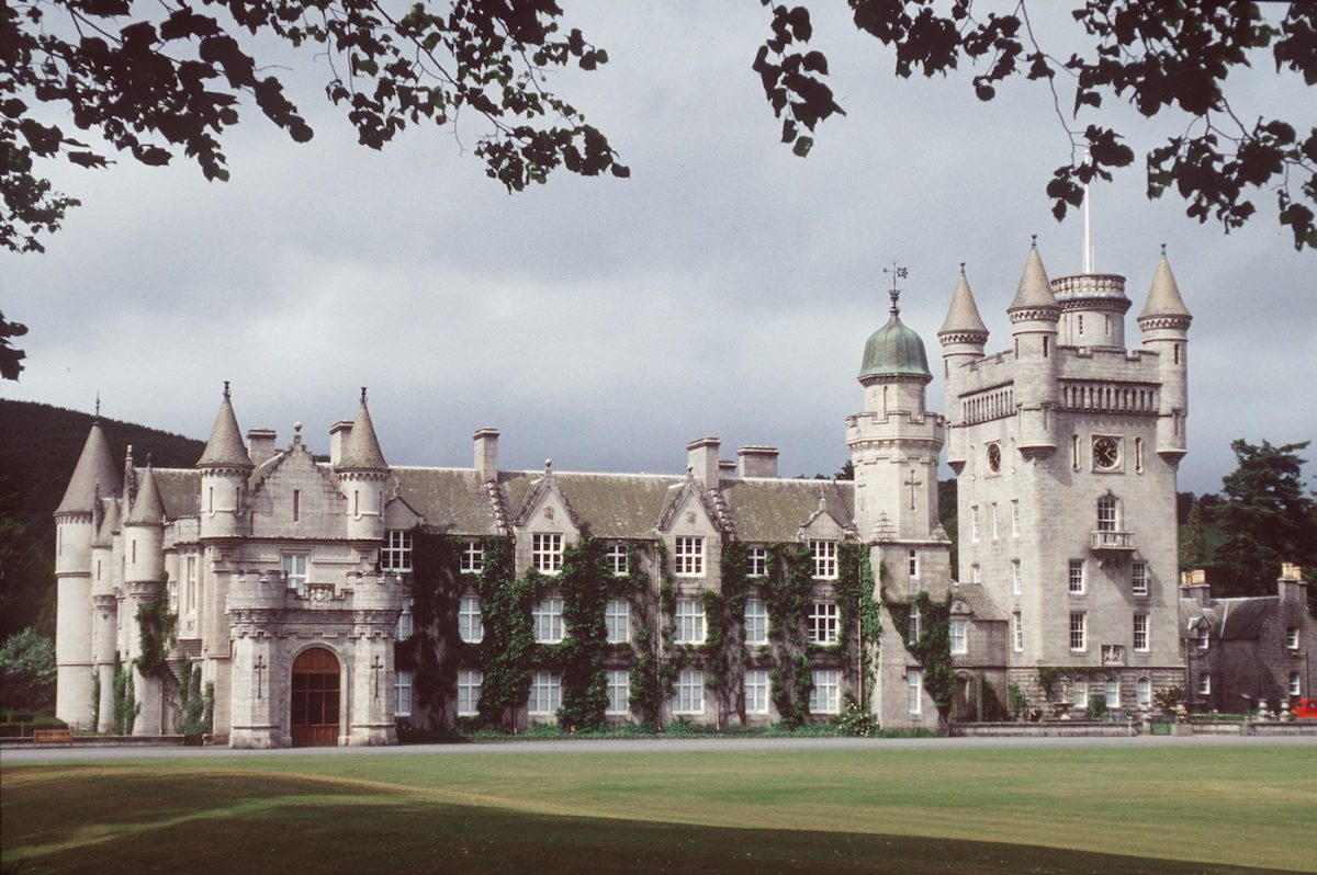 Queen Elizabeth II and Prince Philip at Balmoral in 2005