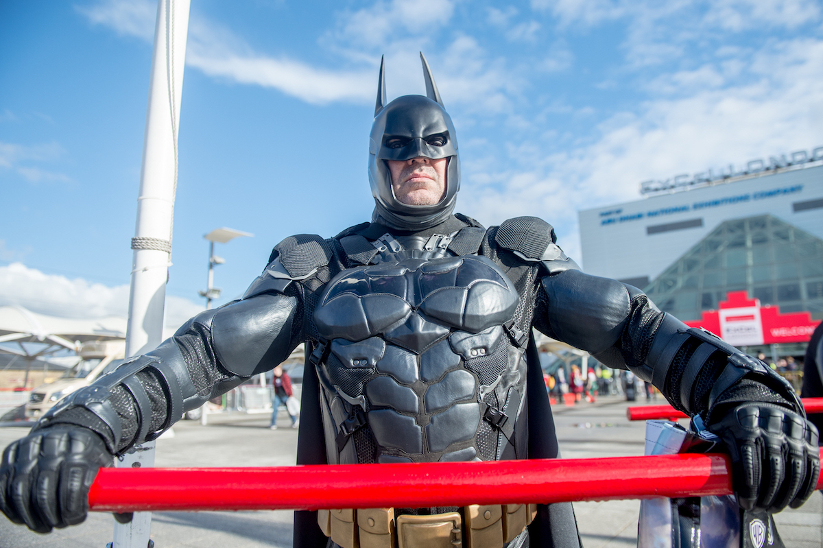 A Batman Cosplayer at MCM London Comic Con