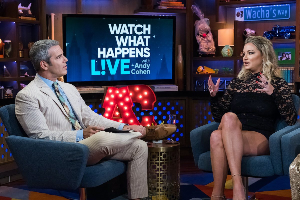 Andy Cohen and Hannah Ferrier
