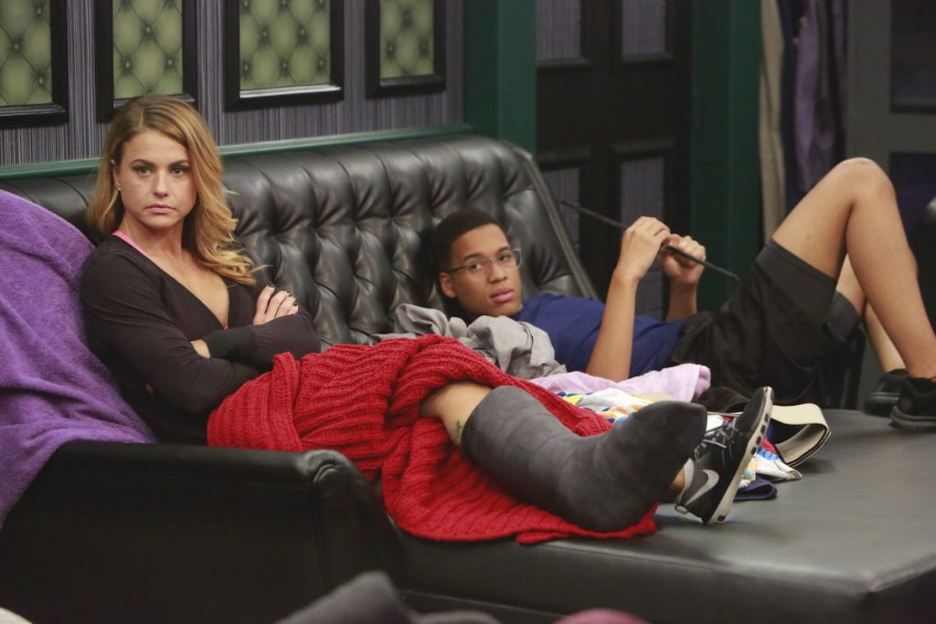 Christmas Abbott and Ramses Soto in the Big Brother house