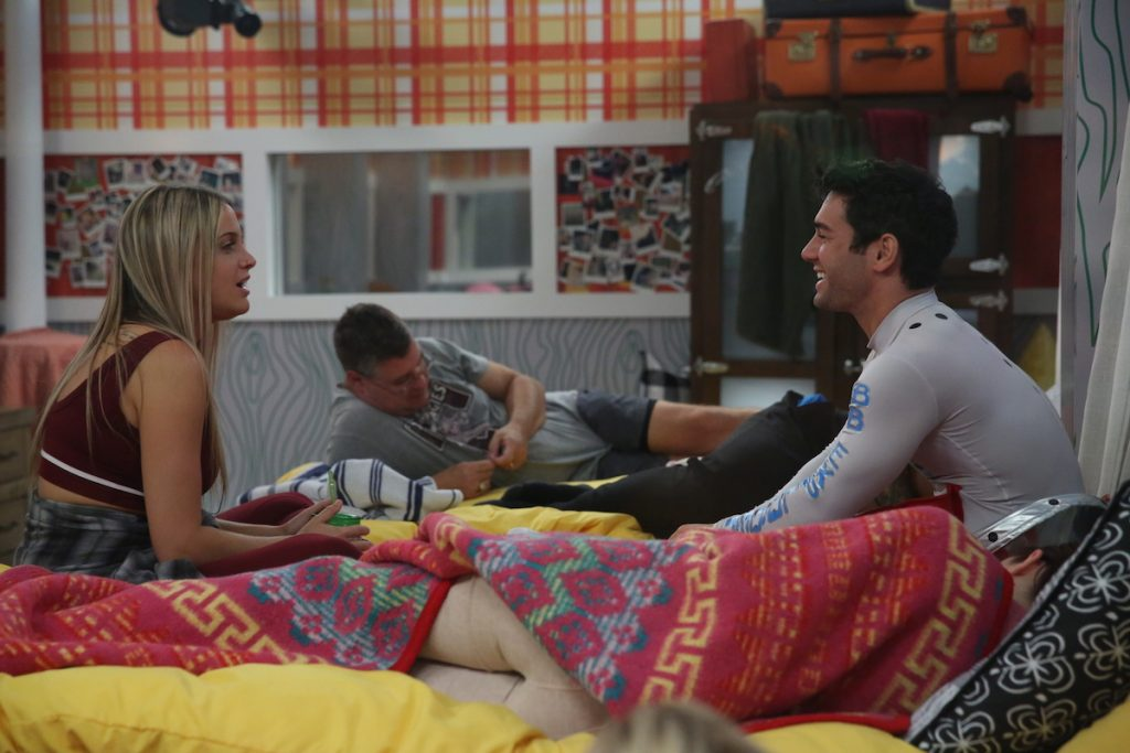 Christie Murphy, Cliff Hogg and Tommy Bracco in the Big Brother House. Big Brother