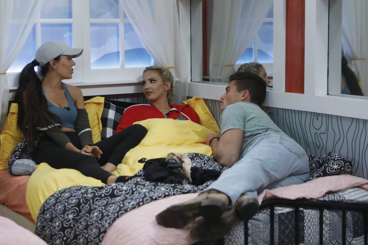 Holly Alexander, Kathryn Dunn and Jackson Michie on Big Brother