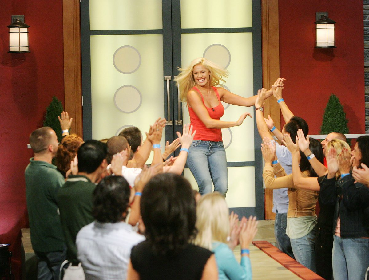 Janelle Pierzina appears at the season finale of CBS's Big Brother 6