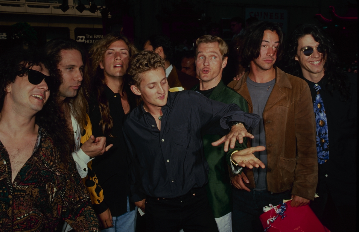 Alex Winter, William Sadler, and Keanu Reeves at the 'Bill & Ted's Bogus Journey' premiere