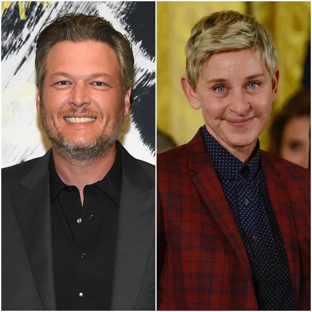 Blake Shelton and Ellen DeGeneres
