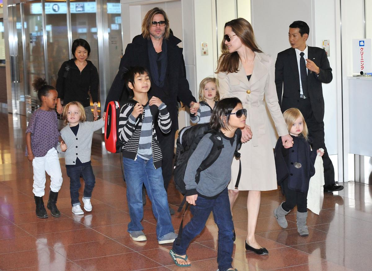 Brad Pitt Angelina Jolie children