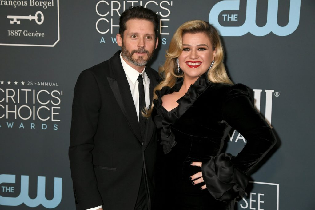 Brandon Blackstock (L) and Kelly Clarkson attend the 25th Annual Critics' Choice Awards